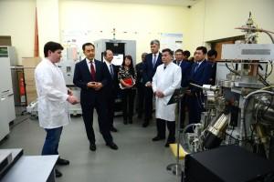 B. Sagintayev visits Lab of Physics